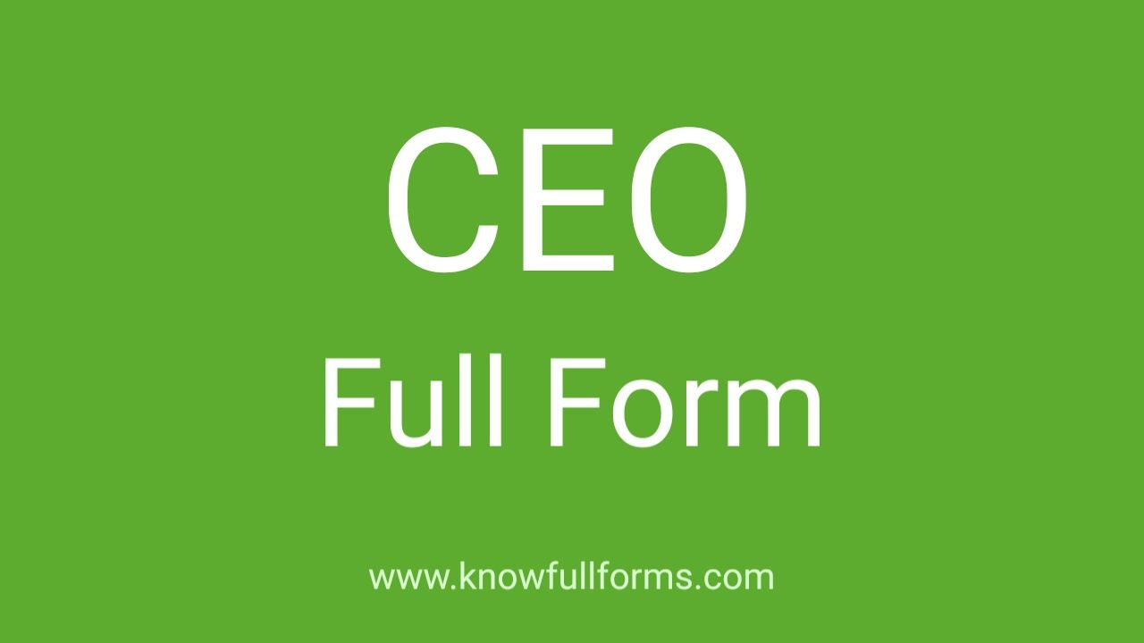 CEO full form in hindi