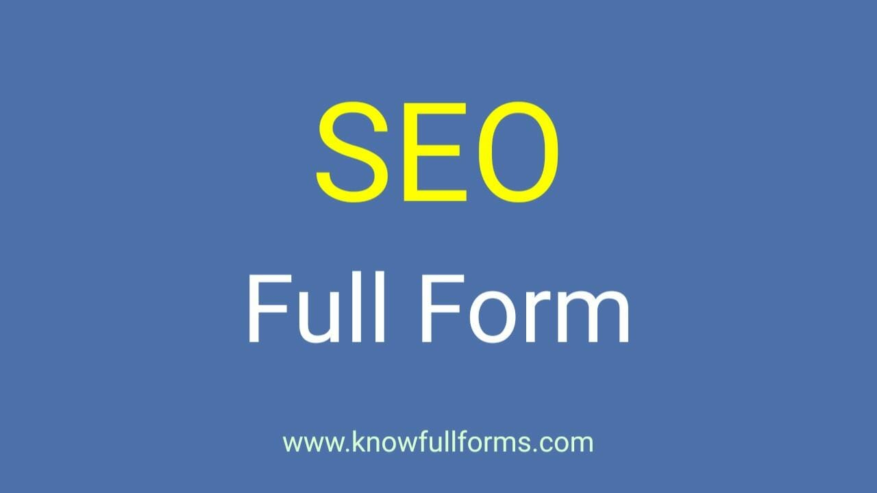SEO Full Form in Hindi