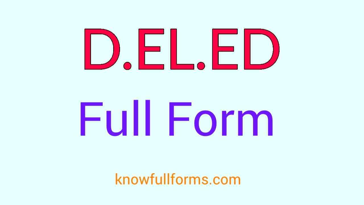 DELED Full Form