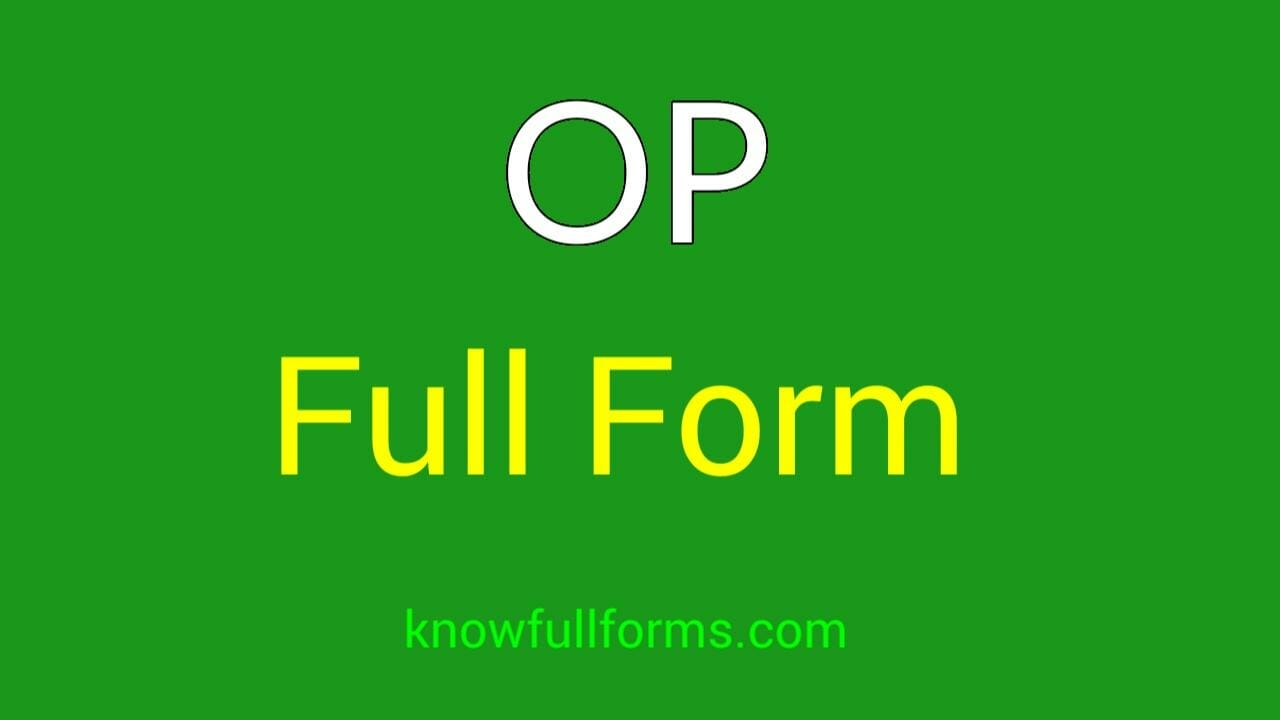 op full form in hindi