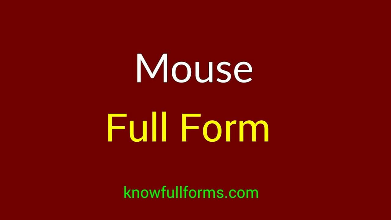 Mouse full form in hindi